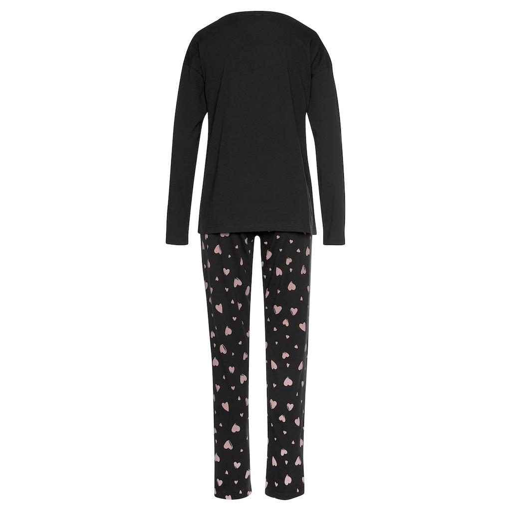 Vivance Dreams Pyjama, mit Herzmuster