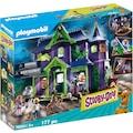 Playmobil® Konstruktions-Spielset »SCOOBY-DOO! Abenteuer im Geisterhaus (70361), SCOOBY-DOO!«, (177 St.), Made in Germany