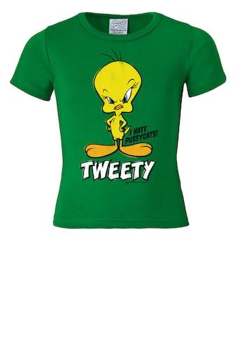 LOGOSHIRT T-Shirt »Tweety - I Hate Pussycats«, mit Vogel-Print kaufen