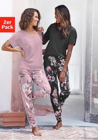 Vivance Dreams Pyjama, mit Blumendruck kaufen
