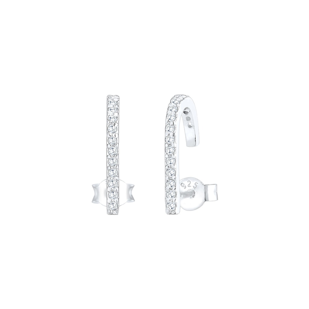 Elli Paar Ohrstecker »Suspender Geo Minimal Zirkonia 925 Sterling Silber«