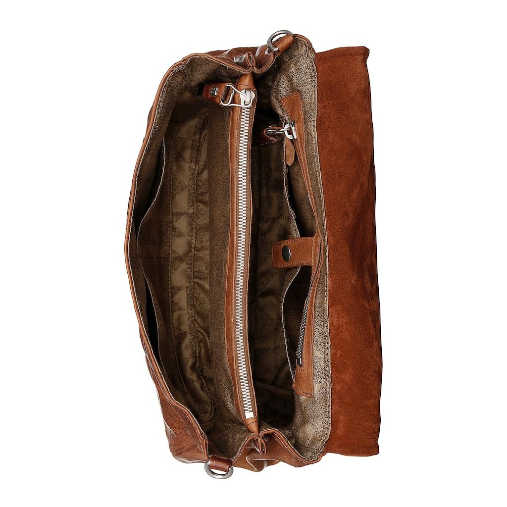 A.S.98 Umhängetasche, aus Leder, mit modischer Umhängekette