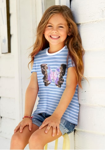 KIDSWORLD T-Shirt, mit glitzernder Paillettenapplikation kaufen