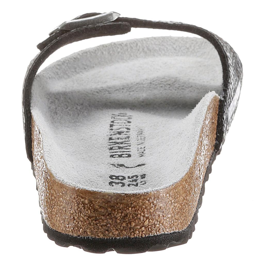 Birkenstock Pantolette »MADRID PYTHON«, mit verstellbarer Schnalle, schmale Schuhweite