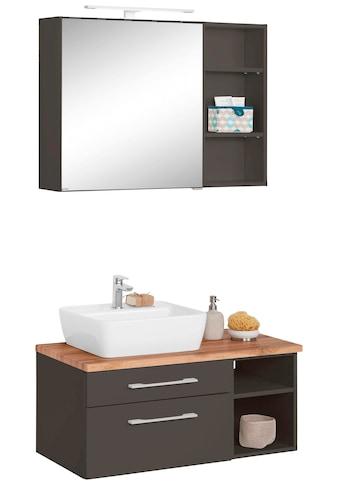 HELD MÖBEL Badmöbel-Set »Davos«, (3 tlg.), Spiegelschrank, Regal und Waschtisch kaufen