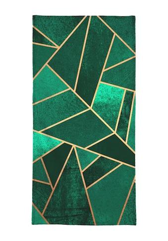 Juniqe Handtuch »Emerald and Copper«, (1 St.), Weiche Frottee-Veloursqualität kaufen