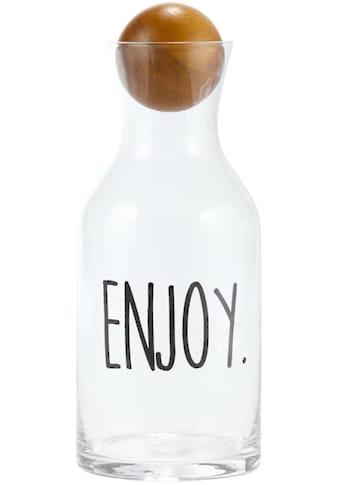 Karaffe »Enjoy«, Glas, mit Schriftzug kaufen