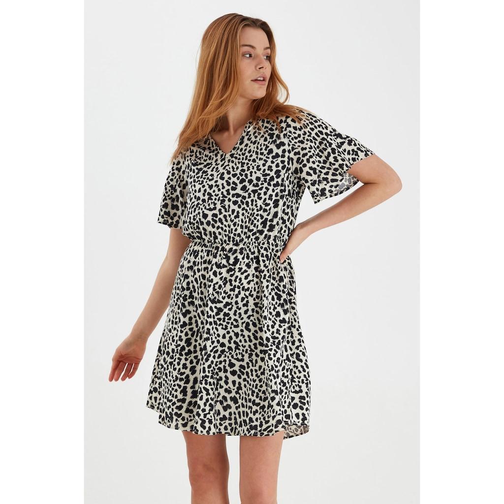 b.young Druckkleid »BYMMJOELLA DRESS«, Kurzes Kleid mit V-Ausschnitt