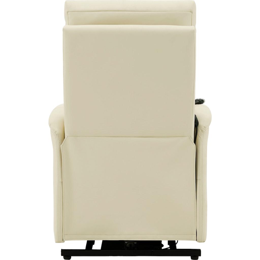 DELAVITA Relaxsessel »Berit«, mit einer praktischen elektrischen Relaxfunktion, Sitz- und Liegeposition möglich, Aufstehhilfe, Sitzhöhe 47 cm