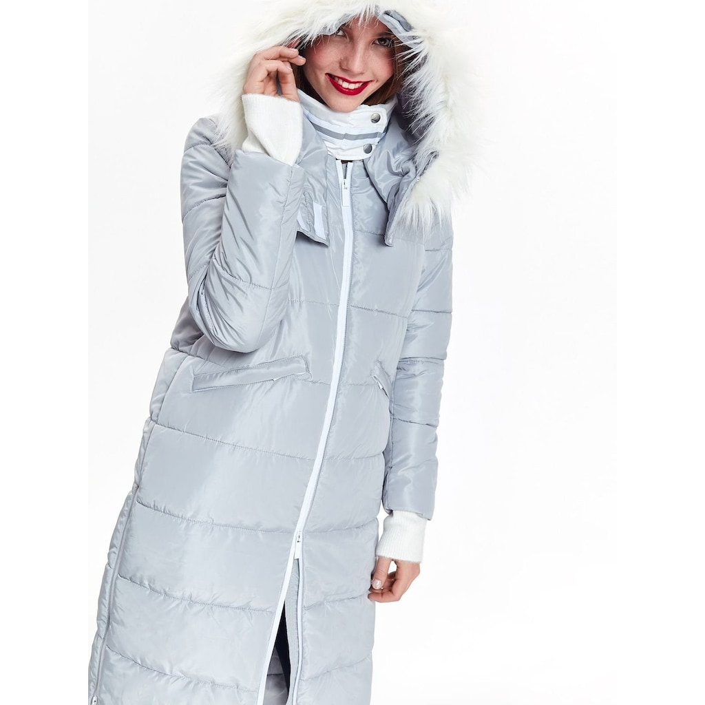 TOP SECRET Winterjacke mit Kunstfellbesatz an der Kapuze