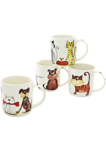 "CreaTable Becher ""Cats & Dogs"" (4 - tlg.) kaufen"
