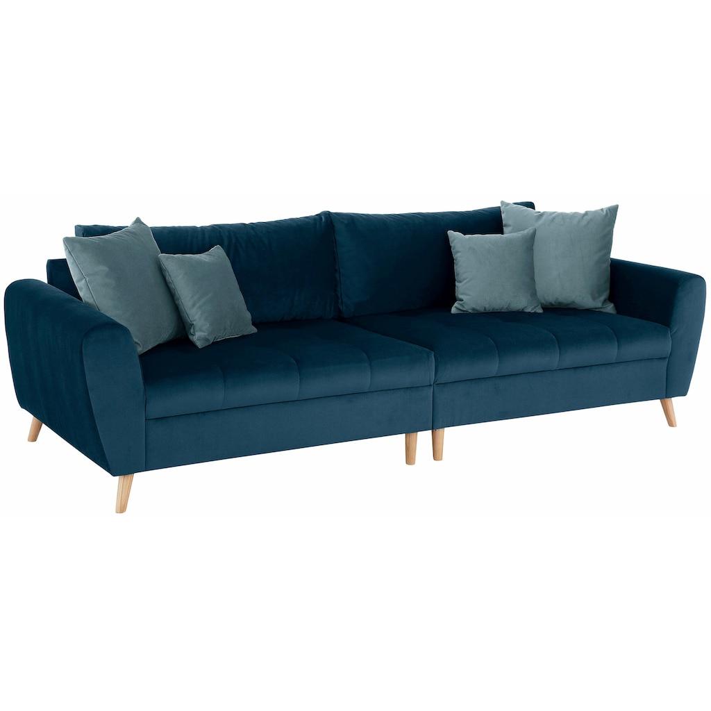 Home affaire Big-Sofa »Penelope«, feine Steppung, lose Kissen, skandinavisches Design