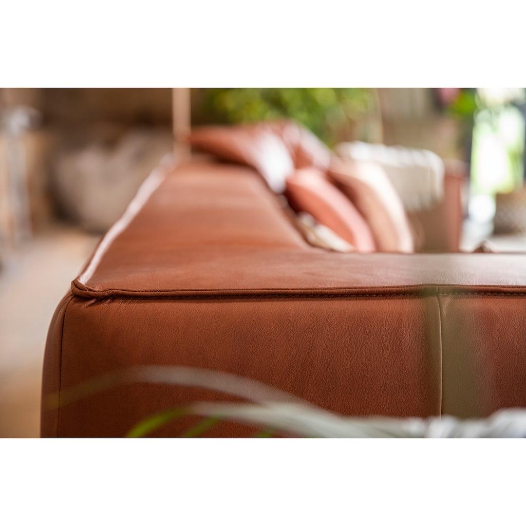 W.SCHILLIG 4-Sitzer »around-the-block«, mit eleganter Biese, mit Federkern