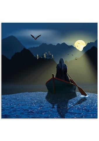 Artland Glasbild »Vollmondnacht in den Karpaten«, Dark Fantasy, (1 St.) kaufen