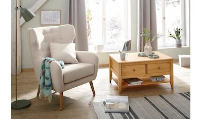 Home affaire Ohrensessel »Yamuna«, mit toller Sitzpolsterung, Gestell und Füße aus Massivholz, Sitzhöhe 57 cm kaufen