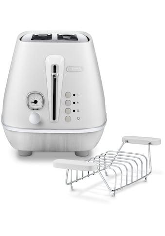 De'Longhi Toaster »Distinta Moments CTIN 2103.W – Sunrise White«, 2 kurze Schlitze,... kaufen