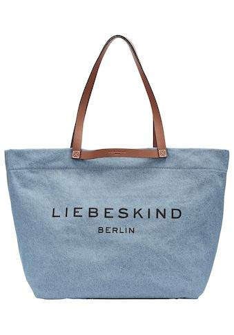 Liebeskind Berlin Shopper »Gray Denim Aurora Shopper L«, aus hochwertigem Jeansstoff kaufen