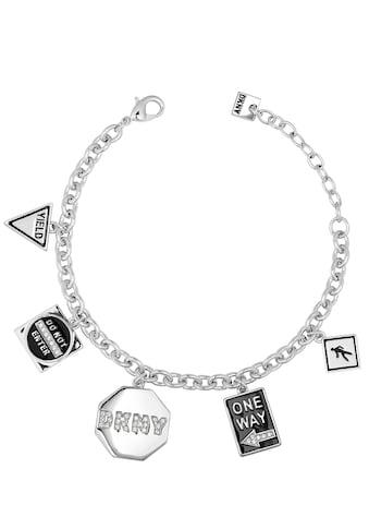 DKNY Armband »NYC Street Sign Charm BR (RH), 5547984«, mit Swarovski® Kristallen und Emaille kaufen