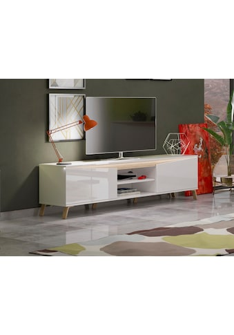 KITALY Lowboard »ALADINO«, Breite 200 cm, komplett Hochglanz ohne Beleuchtung kaufen