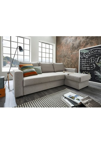 ATLANTIC home collection Ecksofa, mit Bettfunktion und Bettkasten, Recamiere links oder rechts montierbar, inklusive Federkern kaufen