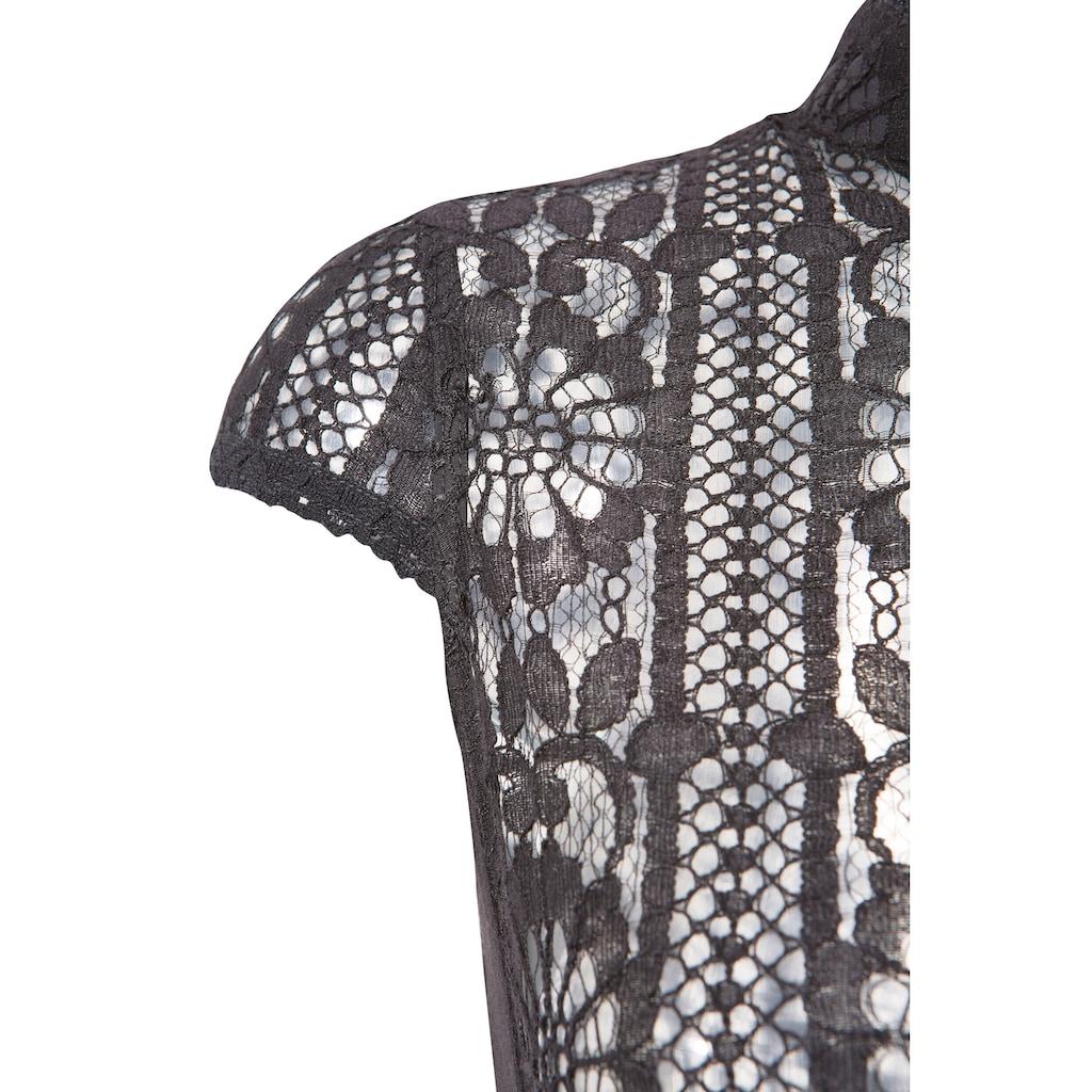 Tramontana Dirndlbluse, hochgeschlossen aus transparenter Spitze