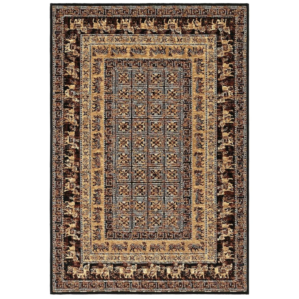 my home Teppich »Karavane«, rechteckig, 7 mm Höhe, Orient - Dekor, Wohnzimmer
