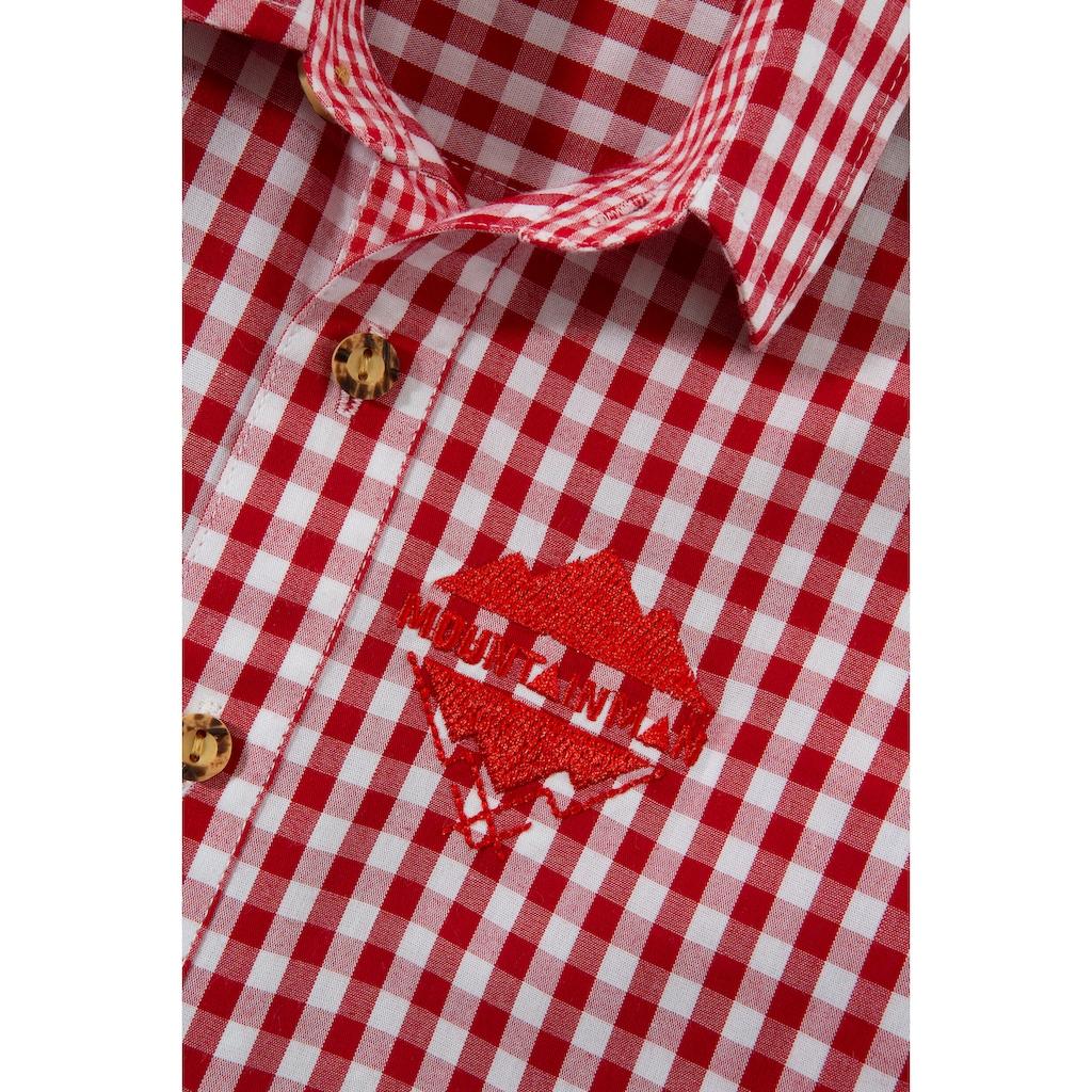 Andreas Gabalier Kollektion Trachtenhemd, Kinder mit Mountainman Stickerei