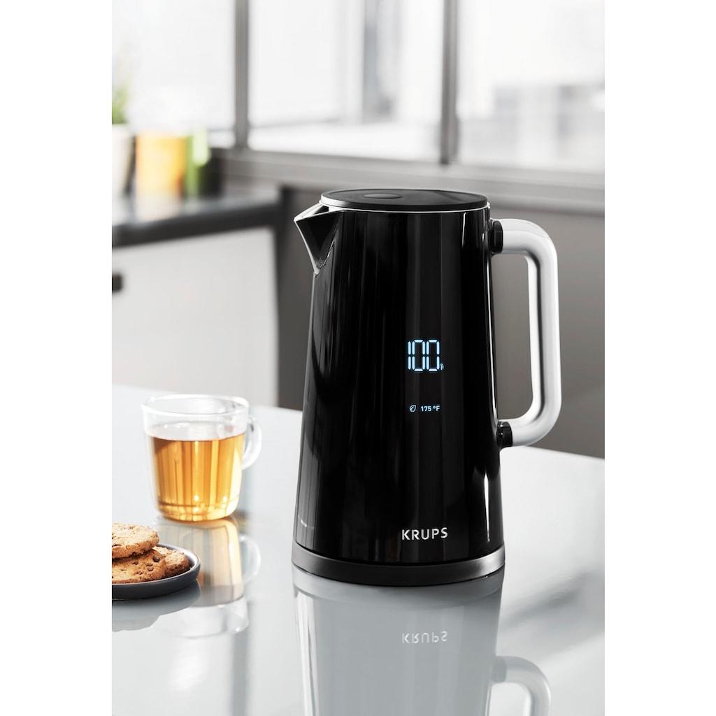 Krups Wasserkocher »Smart'n Light BW8018«, 1,7 l, 1800 W, mit Digitalanzeige; 5 Temperaturstufen; One-Touch-Bedienung; 360°-Sockel; Automatische Abschaltung