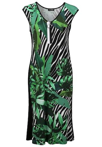 Doris Streich Jerseykleid »mit Allover-Muster«, und Reißverschluss-Ausschnitt kaufen