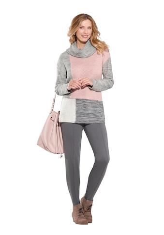 Classic Basics Pullover mit Farb -  und Strukturmustermix im Vorderteil kaufen