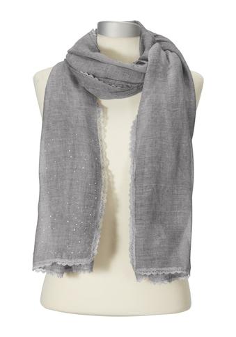 Schal mit Spitzenborte kaufen