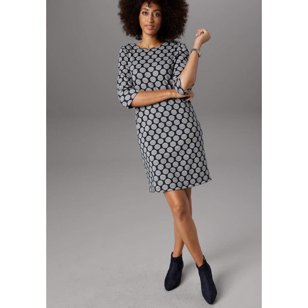 Aniston SELECTED Jerseykleid, mit Punkten & Streifen