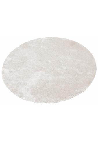 Bruno Banani Hochflor-Teppich »Dana«, rund, 30 mm Höhe, Besonders weich durch Microfaser, Wohnzimmer kaufen