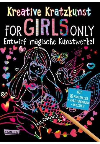 Buch »Kreative Kratzkunst: For Girls Only: Set mit 10 Kratzbildern, Anleitungsbuch und... kaufen