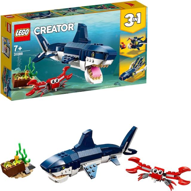 """LEGO® Konstruktionsspielsteine """"Bewohner der Tiefsee (31088), LEGO® Creator"""", Kunststoff, (230-tlg.)"""