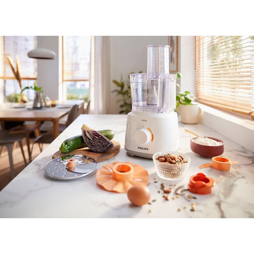 Philips Küchenmaschine »HR7310/00, 700 W, 16 Funktionen, weiß«
