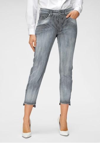 MAC Ankle-Jeans »Rich Slim chic«, Voren am Saum kürzer als der hintere Saum kaufen
