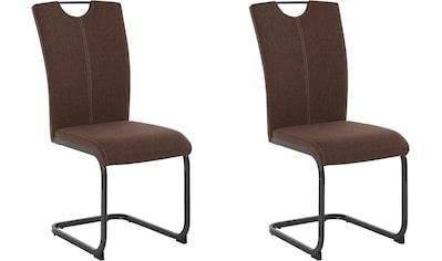 Homexperts Esszimmerstuhl »Viva«, (2 oder 4 Stück), Bezug in Webstoff, Metallgestell in anthrazit kaufen