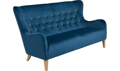 Max Winzer® 2,5-Sitzer »Melina«, im Retrolook, mit farbigen Zierknöpfen, Breite 190 cm kaufen