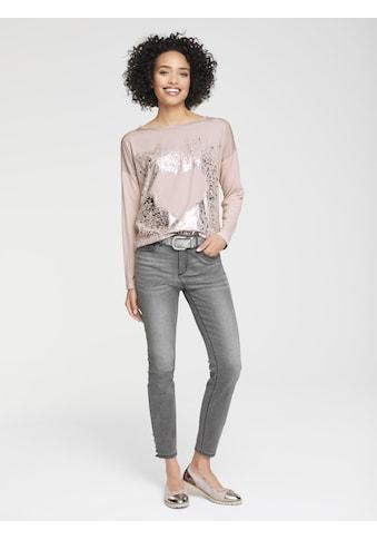 Oversized Shirt mit Metallic-Effekt kaufen