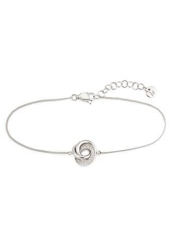 Bruno Banani Silberarmband »Knoten, B00 64B/90/03/20«, mit Zirkonia kaufen