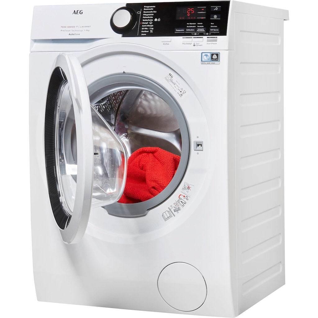 AEG Waschmaschine »LAVAMAT L7FB78490«, SERIE 7000 LAVAMAT, L7FB78490, 9 kg, 1400 U/min, mit AutoDose & WiFi Steuerung