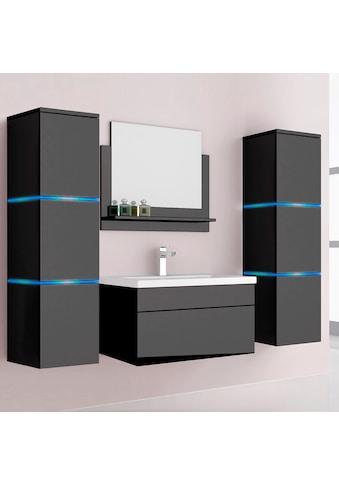 HOME DELUXE Badmöbel-Set »Wangerooge XL«, (3 St.), mit Push-To-Open-Technik, edle... kaufen
