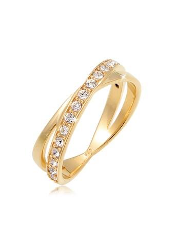 Elli Fingerring »Wickelring Kristalle 925 Silber« kaufen