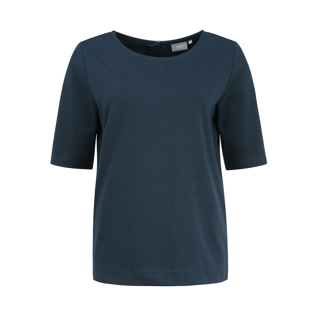 b.young T-Shirt »Rizetta 2«, T-Shirt mit Reißverschluss