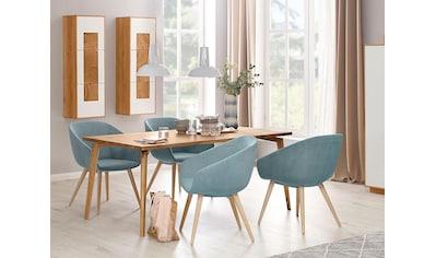 WHITEOAK GROUP Esstisch »Lanzo«, aus massivem Eichenholz in hochwertiger Verarbeitung kaufen