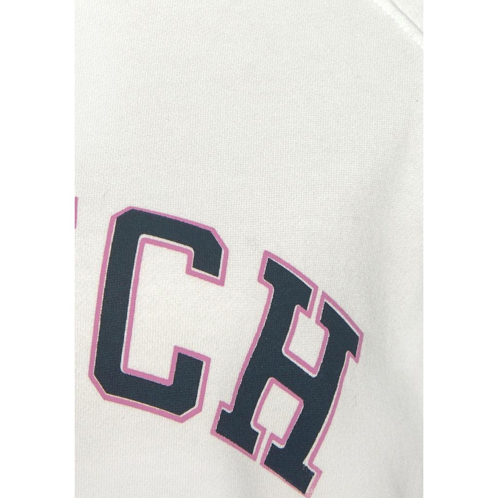 Bench. Sweatshirt, mit Logo Tape an den Ärmeln