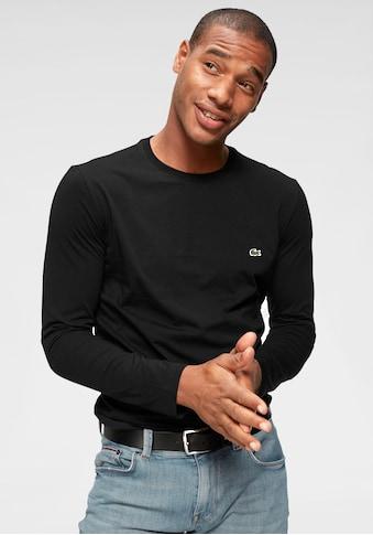 Lacoste Langarmshirt, Jersey Qualität kaufen