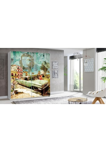 FORTE Schwebetürenschrank »Plakato«, mit Motivdruck kaufen