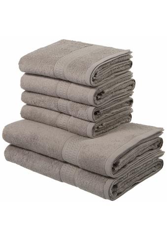 my home Handtuch Set »Juna«, mit feiner Strukturbordüre kaufen